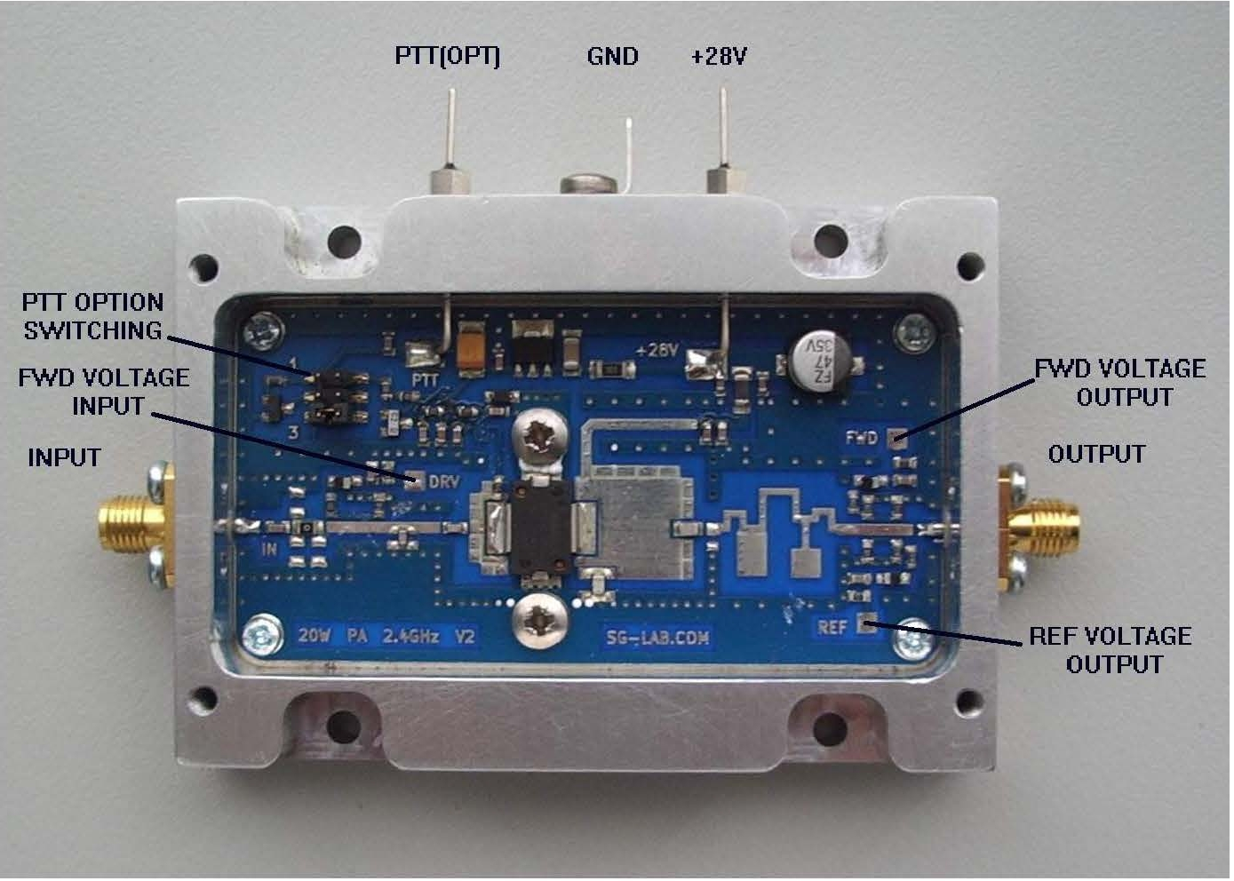SG Laboratory Ltd: Power amplifier for 2 4GHz up link - PA for TX