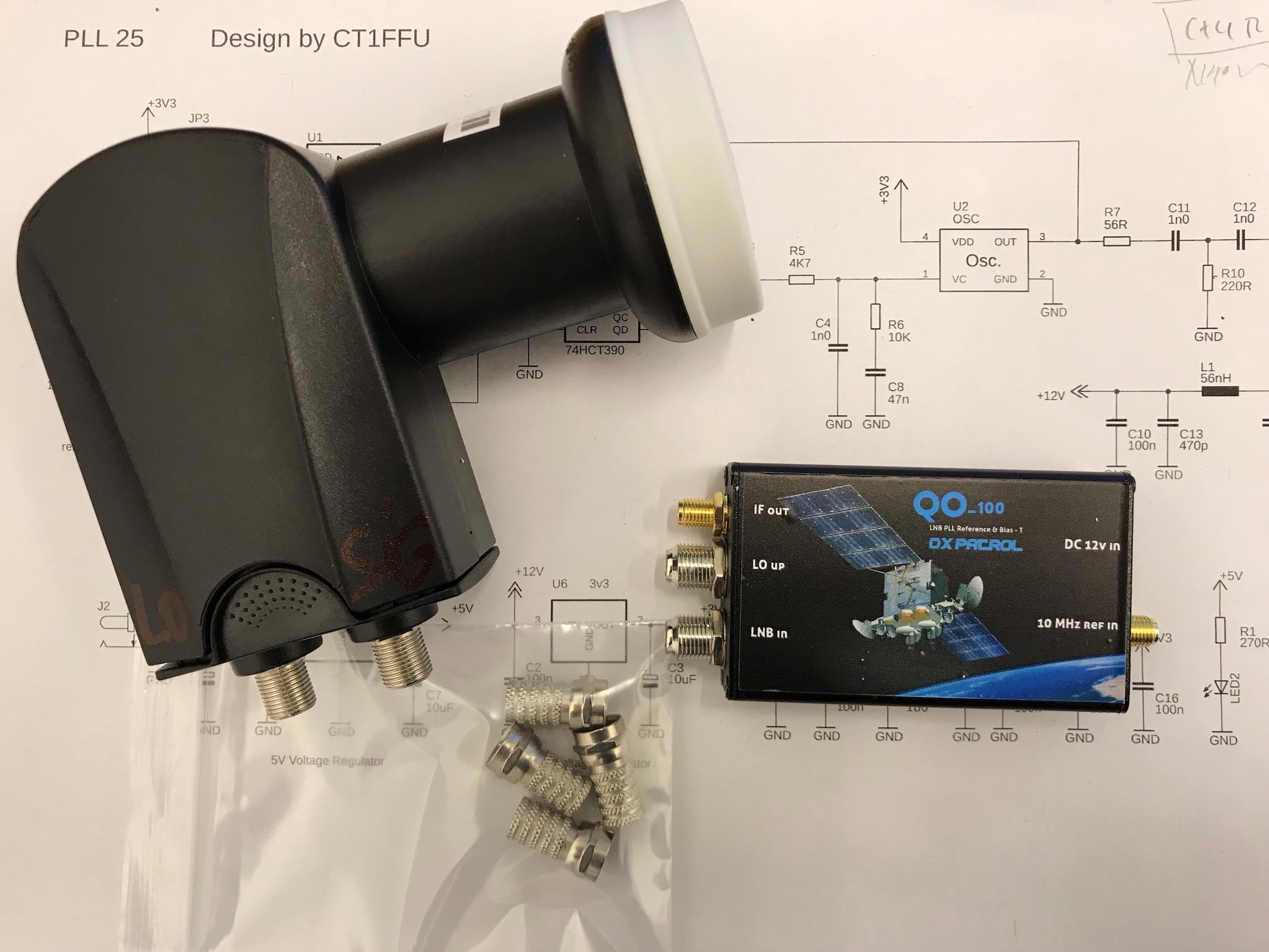 Dual band feed with LNB 21 type - Antenna - AMSAT
