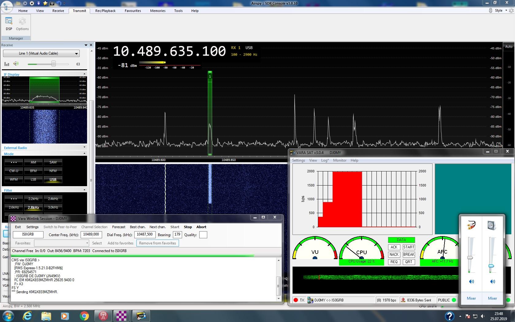IS0GRB Winlink Server on QO-100 (Dial 10489635 0 USB) - Seite 3