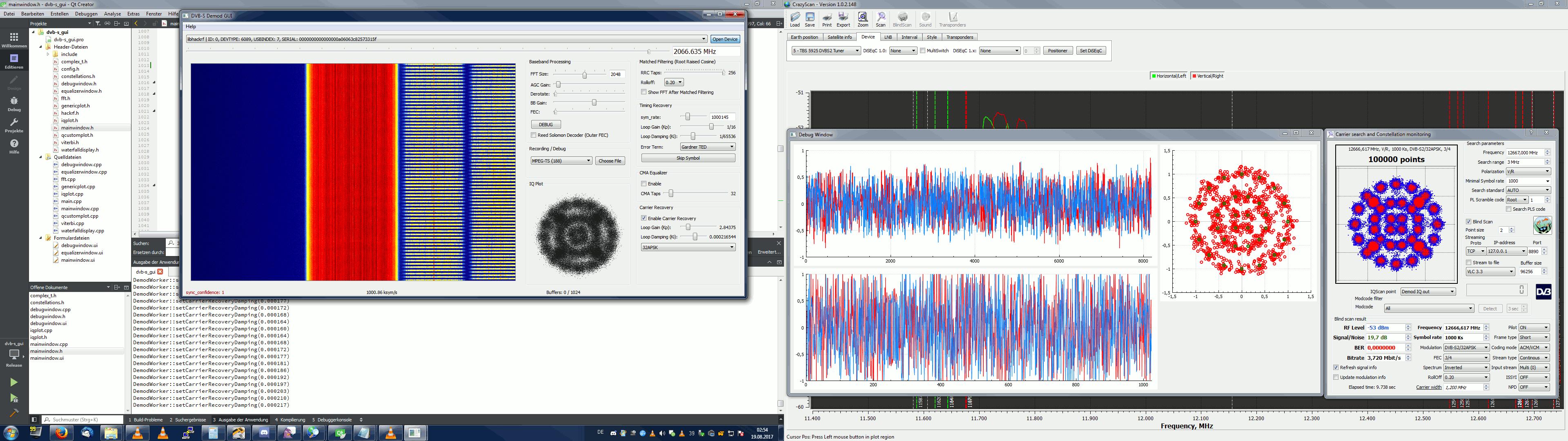 Software DVB-S demodulator - Software - AMSAT Deutschland